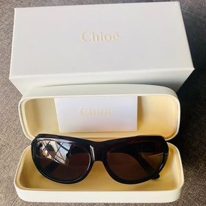 NIB! Chloe Dark Havana Brown Sunglasses CL2126